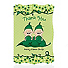 Twins Two Peas in a Pod Caucasian - Personalized Baby Shower Thank You Cards