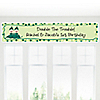 Twins Two Peas in a  Pod Caucasian - Personalized Birthday Party Banners