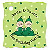 Twins Two Peas in a  Pod Caucasian  - Personalized Birthday Party Tags - 20 ct