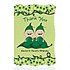 Twins Two Peas in a Pod Caucasian - Personalized Birthday Party Thank You Cards