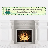 Twins Two Peas in a Pod - Personalized Baby Shower Banners