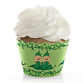 Twins Two Peas in a Pod - Baby Shower Cupcake Wrappers