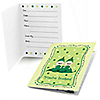 Twins Two Peas in a Pod Caucasian - Baby Shower Fill In Invitations - 8 ct