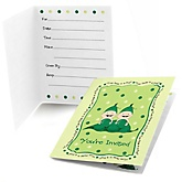 Twins Two Peas in a Pod Caucasian - Fill In Baby Shower Invitations - Set of  8