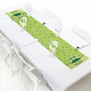 Twins Two Peas in a Pod - Personalized Petite Girl Baby Shower or Birthday Party Table Runner