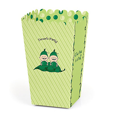 Twins Two Peas in a Pod - Personalized Party Popcorn Favor T...