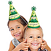 Twins Two Peas in a Pod - Personalized Cone Birthday Party Hats - 8 ct