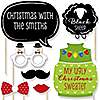 Ugly Sweater Christmas Party – Fun Family Themed - 20 Piece Photo Booth Props Kit