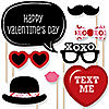 Valentine's Day  - 20 Piece Valentine's Day Party Photo Booth Props Kit