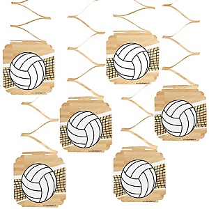 Bump, Set, Spike - Volleyball - Baby Shower Hanging Decorations - 6 Count