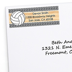 Bump, Set, Spike - Volleyball - Personalized Baby Shower Return Address Labels - 30 ct