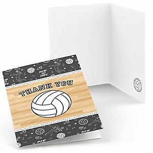 Bump, Set, Spike - Volleyball - Baby Shower Thank You Cards - Set of  8