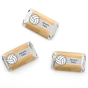 Bump, Set, Spike - Volleyball - Personalized Baby Shower Mini Candy Bar Wrapper Favors - 20 ct