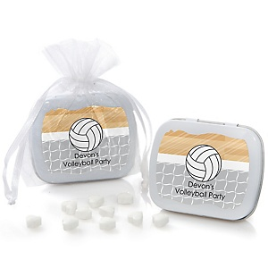 Bump, Set, Spike - Volleyball - Mint Tin Personalized Baby Shower Favors