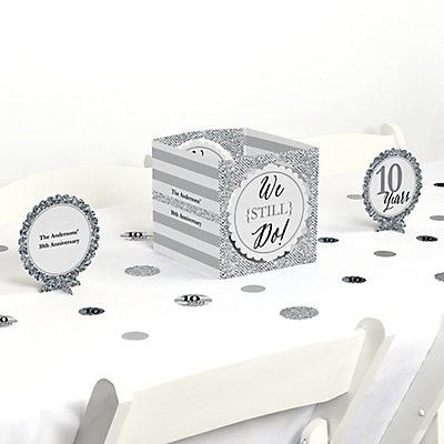 We Still Do - 10th Wedding Anniversary Centerpiece & Table D...