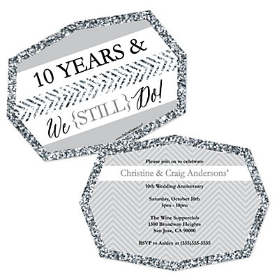 We Still Do - 10th Wedding Anniversary - Shaped Anniversary ...