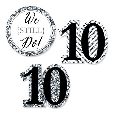 We Still Do - 10th Wedding Anniversary - Shaped Wedding Anni...