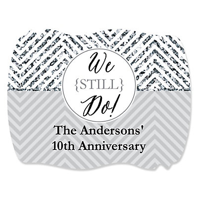 We Still Do - 10th Wedding Anniversary - Personalized Weddin...
