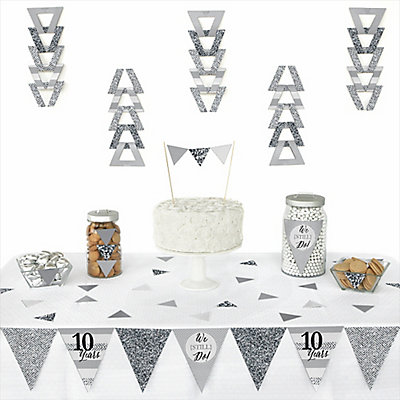 We Still Do - 10th Wedding Anniversary - 72 Piece Triangle W...