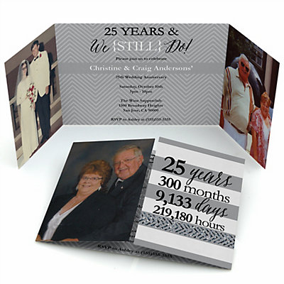 We Still Do - 25th Wedding Anniversary - Personalized Weddin...