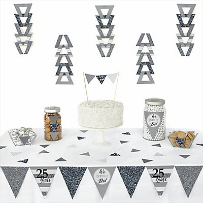 We Still Do - 25th Wedding Anniversary - 72 Piece Triangle W...