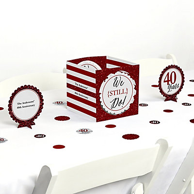 We Still Do - 40th Wedding Anniversary Table Decorating Kit
