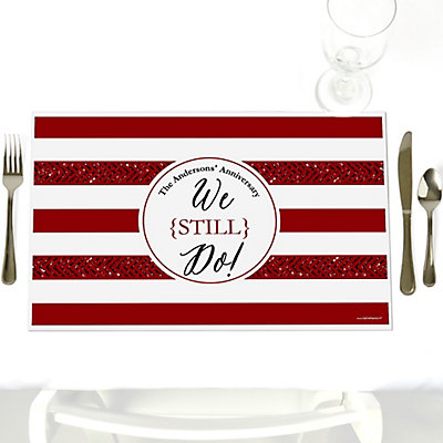 We Still Do - 40th Wedding Anniversary - Personalized Wedding Anniversary Placemats