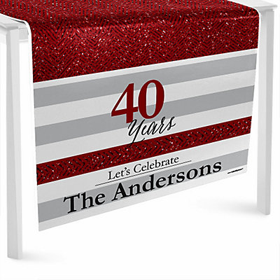 We Still Do - 40th Wedding Anniversary - Personalized Wedding Wedding Anniversary Table Runner