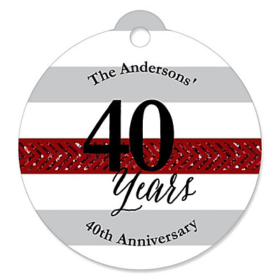 We Still Do - 40th Wedding Anniversary - Personalized Wedding Anniversary Tags - 20 ct