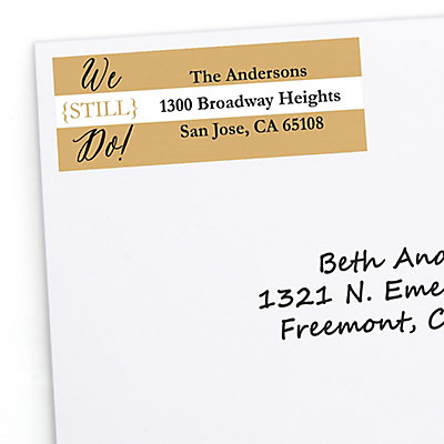 We Still Do - 50th Wedding Anniversary - Personalized Wedding Anniversary Return Address Labels - 30 ct