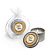 We Still Do - 50th Wedding Anniversary - Personalized Wedding Anniversary Candle Tin Favors