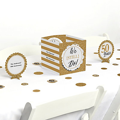 We Still Do - 50th Wedding Anniversary Table Decorating Kit