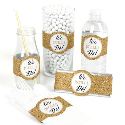50th Wedding Anniversary Gifts Diy : We Still Do - 50th Wedding Anniversary - DIY Party Wrappers - 15 ct