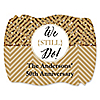 We Still Do - 50th Wedding Anniversary - Personalized Wedding Anniversary Squiggle Sticker Labels - 16 ct