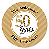 We Still Do - 50th Wedding Anniversary - Personalized Wedding Anniversary Sticker Labels - 24 ct