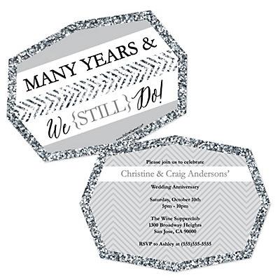 We Still Do - Wedding Anniversary - Shaped Anniversary Invit...