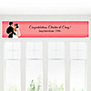 Custom Wedding Couples Coral - Personalized Bridal Shower Banners