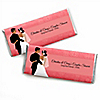 Custom Wedding Couples Coral - Personalized Bridal Shower Candy Bar Wrapper Favors