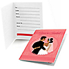 Custom Wedding Couples Pink - Bridal Shower Fill In Invitations - 8 ct
