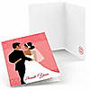 Custom Wedding Couples Pink - Bridal Shower Thank You Cards - 8 ct