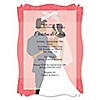 Custom Wedding Couples Coral - Personalized Bridal Shower Vellum Overlay Invitations