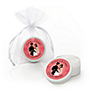 Custom Wedding Couples Coral - Personalized Bridal Shower Lip Balm Favors