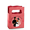 Custom Wedding Couples Coral - Personalized Bridal Shower Mini Favor Boxes