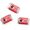 Custom Wedding Couples Coral - Personalized Bridal Shower Mini Candy Bar Wrapper Favors - 20 ct