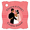 Custom Wedding Couples Coral - Personalized Bridal Shower Tags - 20 ct