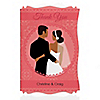 Custom Wedding Couples Coral - Personalized Bridal Shower Thank You Cards