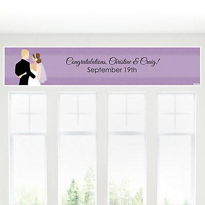 Custom Wedding Couples Purple - Personalized Bridal Shower B...