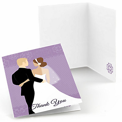 wedding shower thank you cards