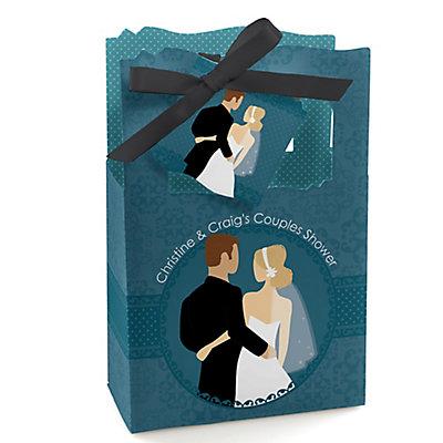 Custom Wedding Couples Teal - Personalized Bridal Shower Fav...