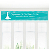 Wedding Dress Teal - Personalized Bridal Shower Banners